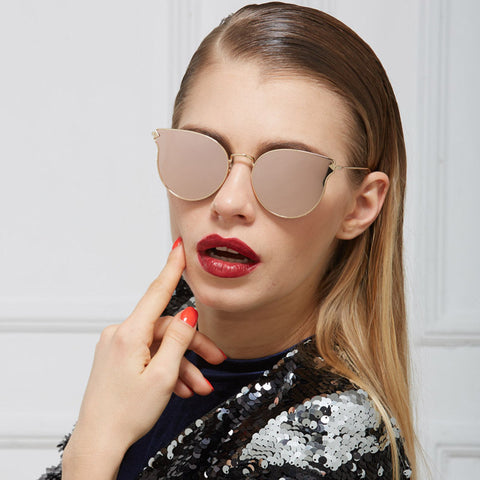 Designer Women's Sunglasses with Reflective Mirror
