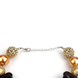 Girl's Pumpkin Carriage Chunky Bubblegum Necklace