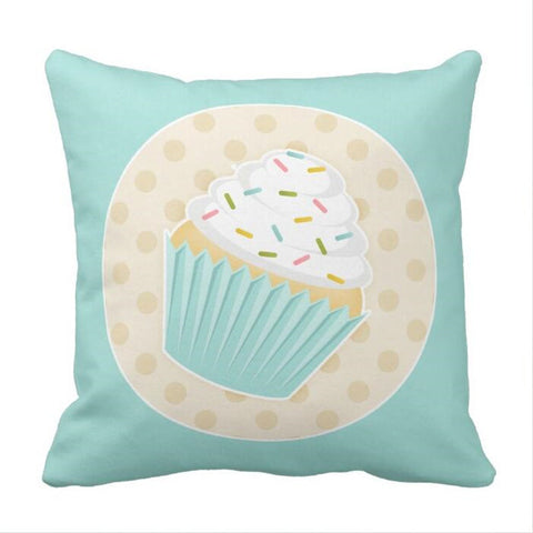 Sprinkled Cupcake Accent Pillow case