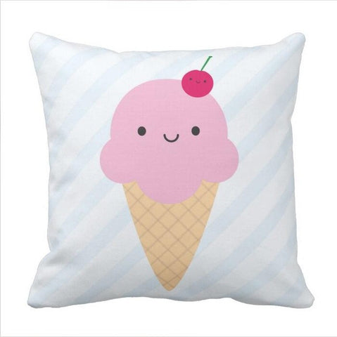Cherry On Top Ice Cream Cone Accent Pillow case