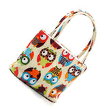 Colorful Owl Cosmetic Bag