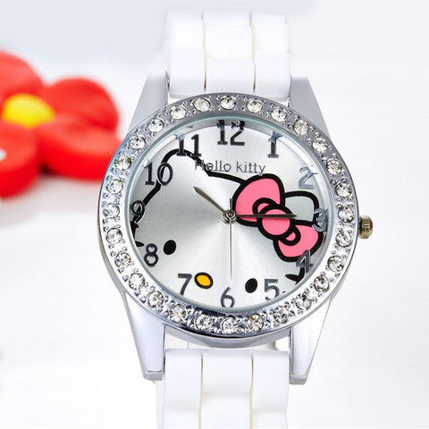 Hello Kitty Girl's Watch with Rhinestones
