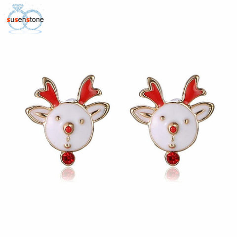 Reindeer Enamel Stud Earrings