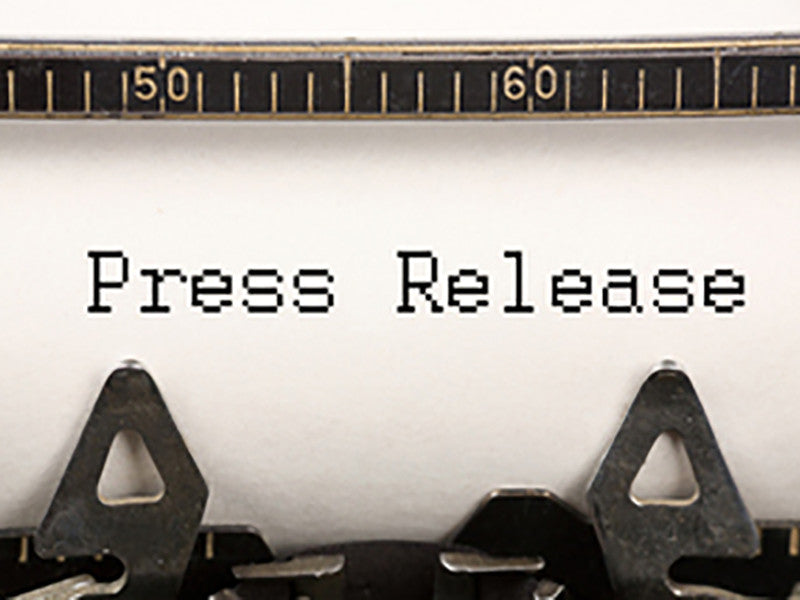 Press Release: For Immediate Release
