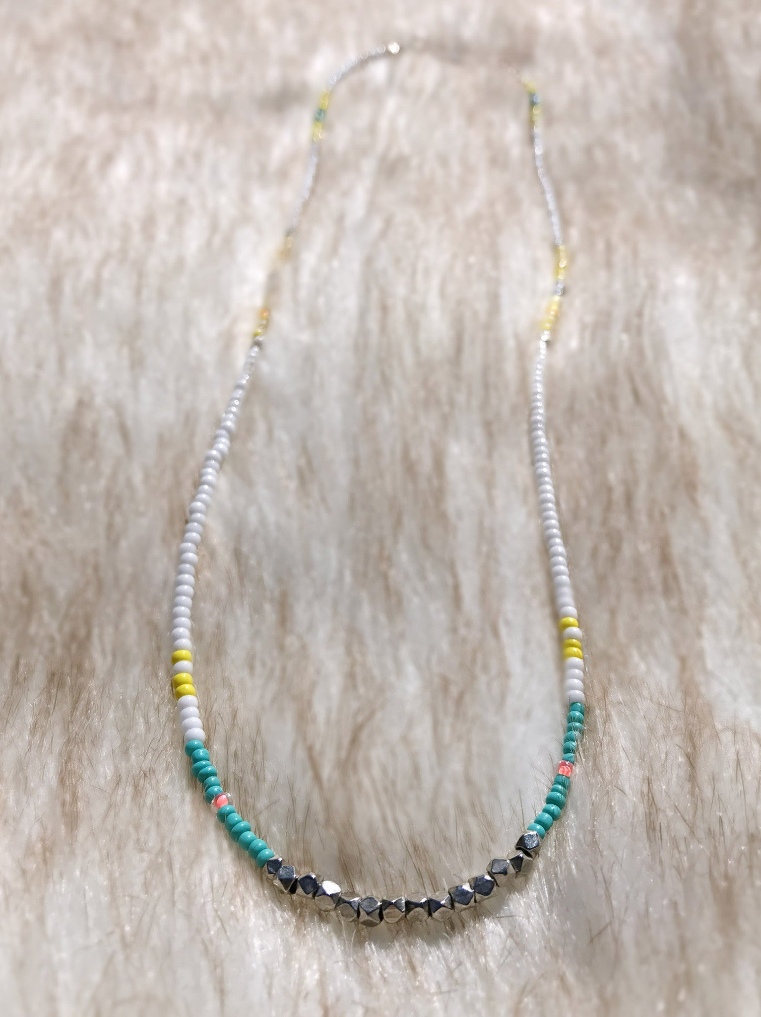 yellow white products necklace hippy beaded sporty dirty of hand turquoise copy chic elegant
