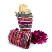 Hand knitted fingerless gloves, Gloves for Women, Knitted Mittens