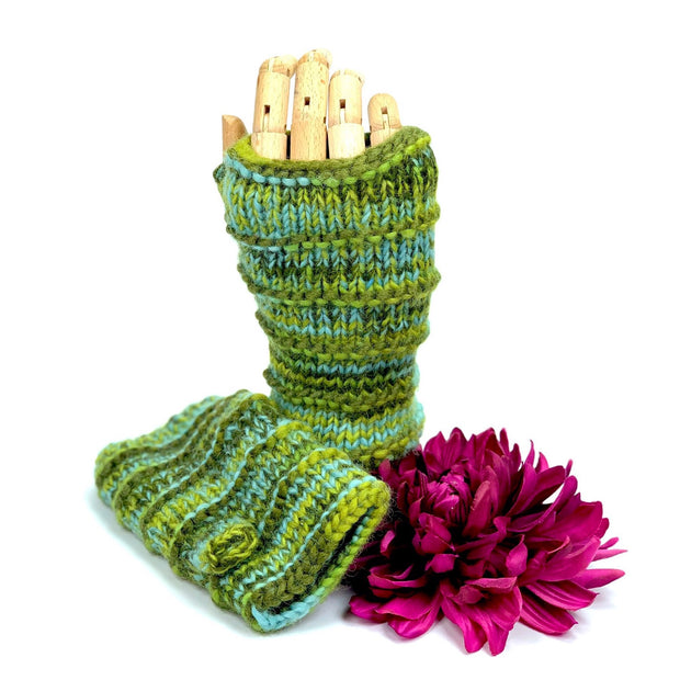 Ribbed Knitted Mittens - Bootsologie