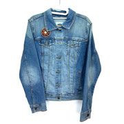 Decorated Denim Jacket, Bohemian Denim Jacket, Denim Jacket for Women.