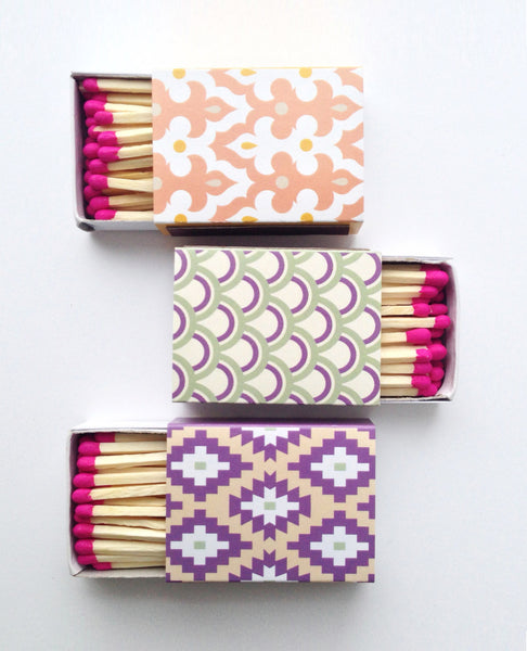 Decorative Matchboxes - set of 3