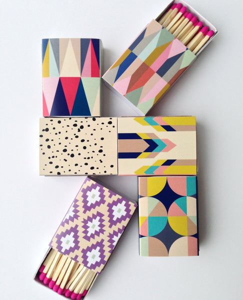 Decorative Matchboxes - set of 6