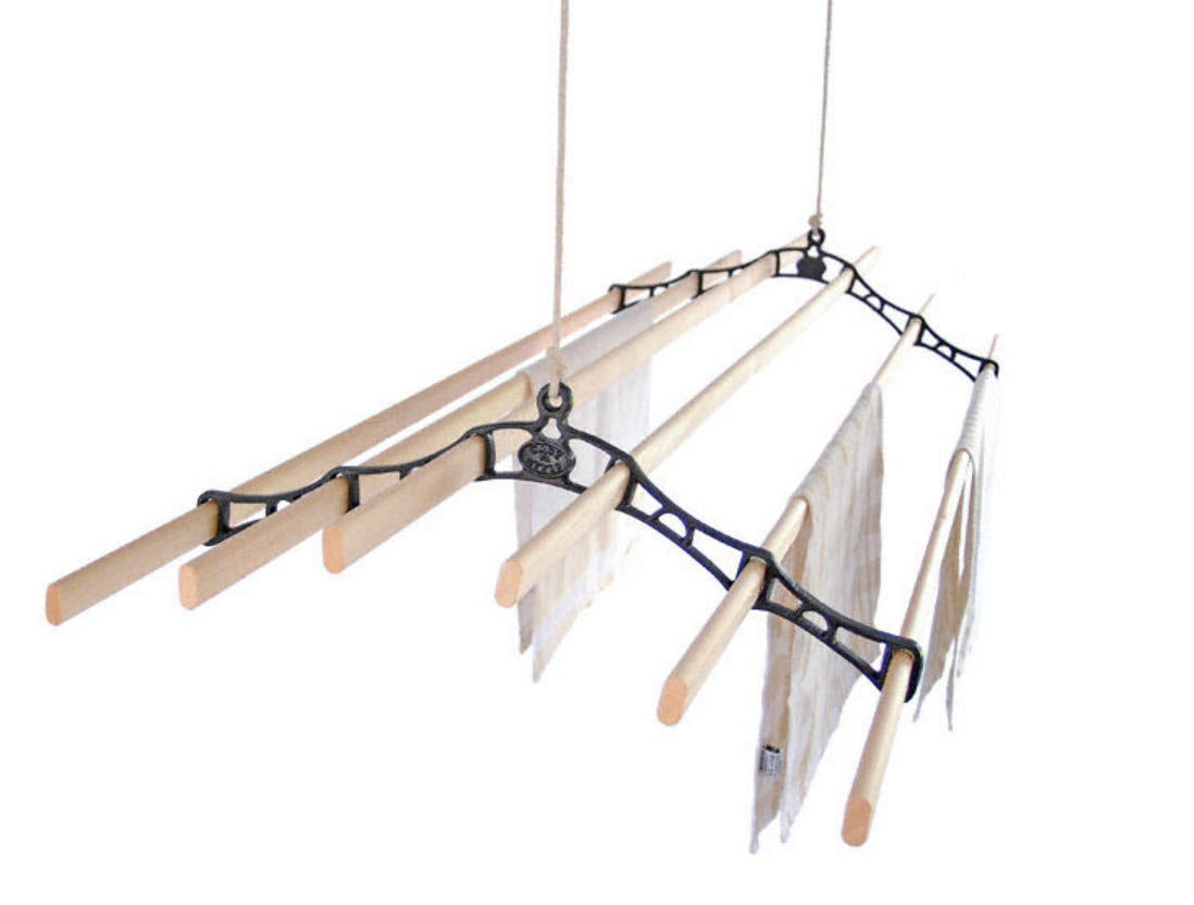 Six lath supreme ceiling mounted clothes airer