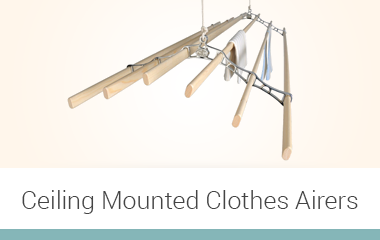 ceiling mounted clothes airers