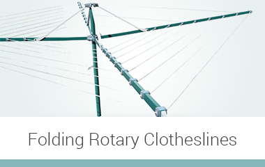 folding rotary clotheslines