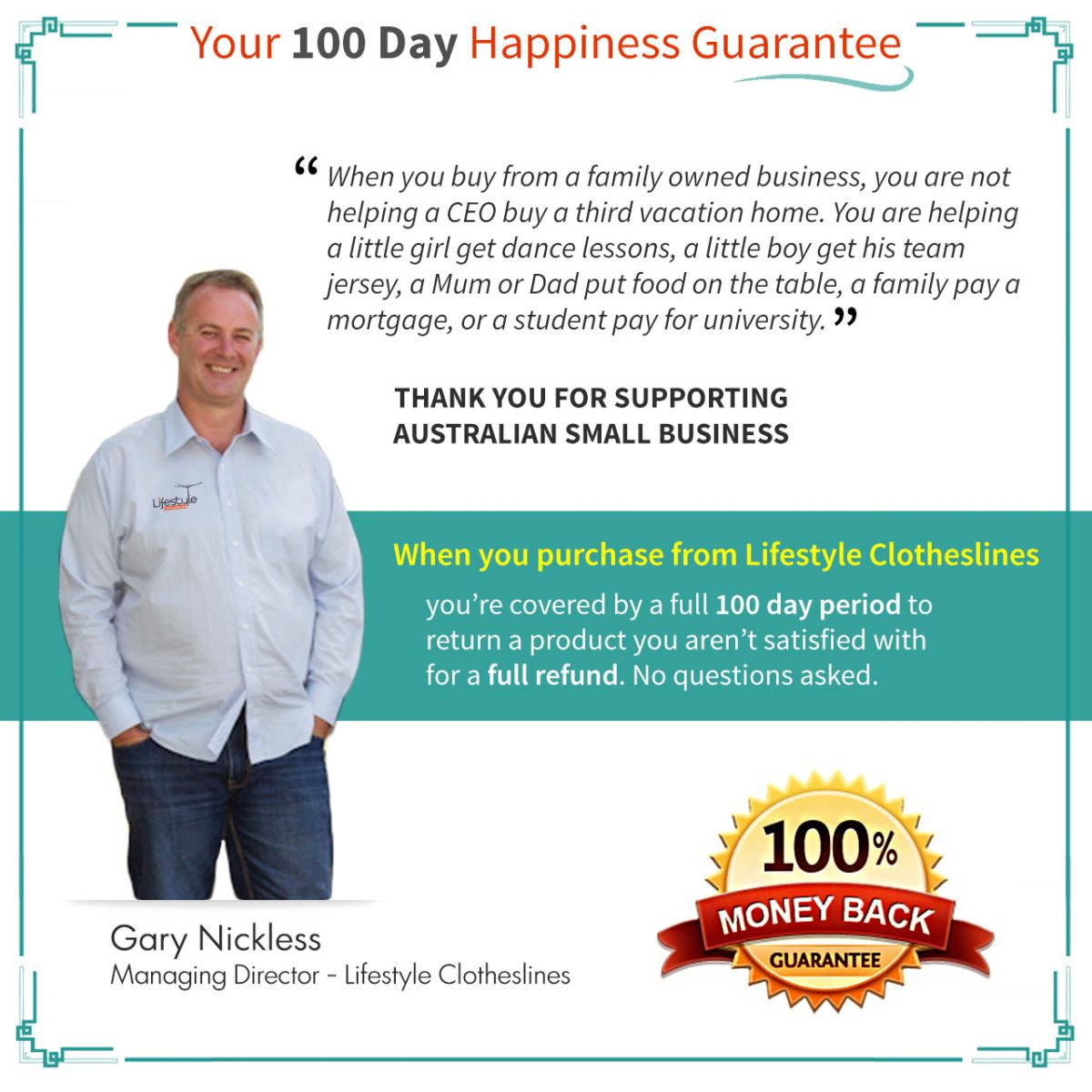 happiness guarantee lifestyle clotheslines