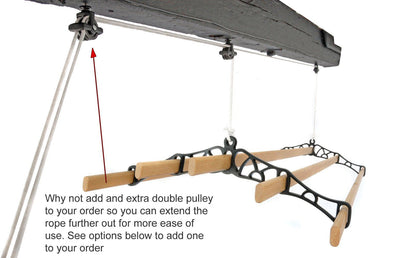 5 Lath Pulley Clothes Airer - Installation
