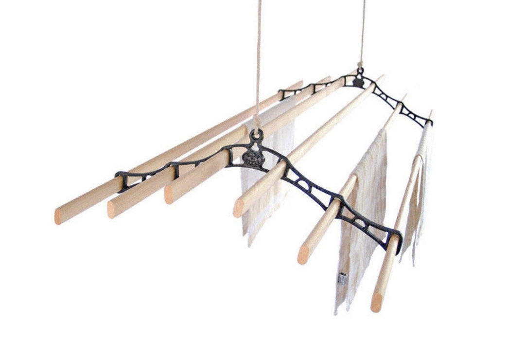 Six Lath Supreme Ceiling Airer - Ceiling Clothes Airer - Kitchen Maid - Lifestyle Clotheslines - 1