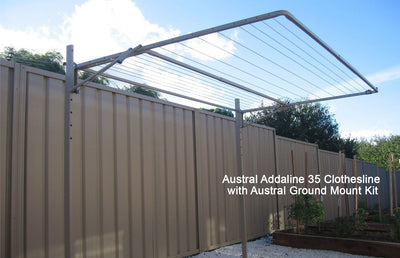 Austral Addaline 35 Clothesline with Austral Ground Mount Kit