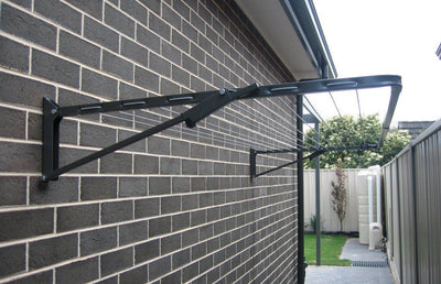Austral Compact 28 Clothesline - Installed Wall Mounted
