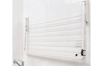 Austral Indoor Outdoor Clothesline - Wall Mounted Folded Down