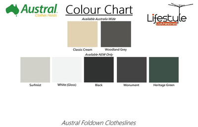 Austral Retractaway 40 Clothesline - Colour Scheme