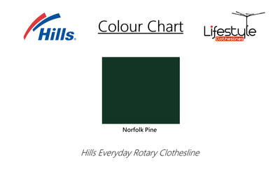 Hills Everyday Rotary 47 Clothesline - Colour Scheme