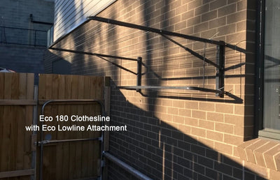 Eco 180 Clothesline Ironstone -1200mm with Eco Lowline Attachment