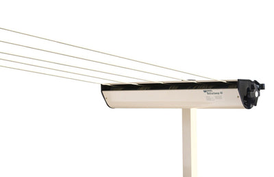 Austral Retractaway Clothesline Post - Classic Cream With Retractable Clothesline Attached