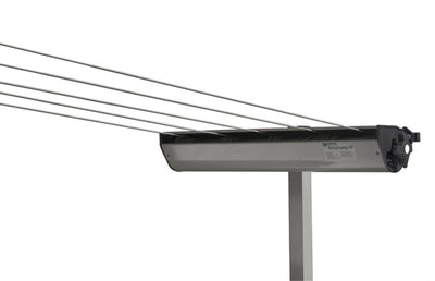 Austral Retractaway Clothesline Post - Woodland Grey With Retractable Clothesline Attached