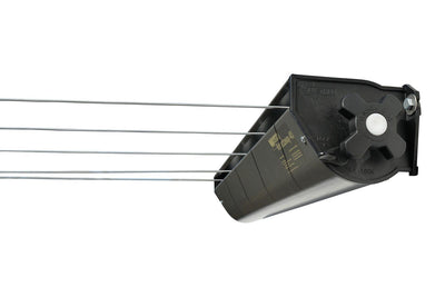 Austral Retractaway 40 Clothesline - Right Side View With Line Pulled Out