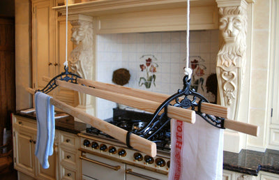 Classic Ceiling Airer - Black Installed