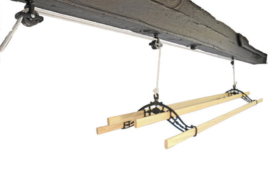 Classic Ceiling Airer - Black Hanging to the Ceiling