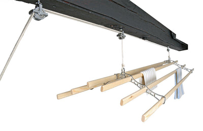 Six Lath Supreme Ceiling Airer - Ceiling Clothes Airer - Kitchen Maid - Lifestyle Clotheslines - 5