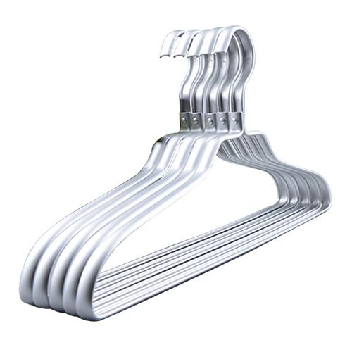 TopLine Aluminium Coat Hangers showing Pack of 10