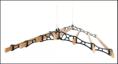 7 Lath Supreme Ceiling Airer - Hanging Black