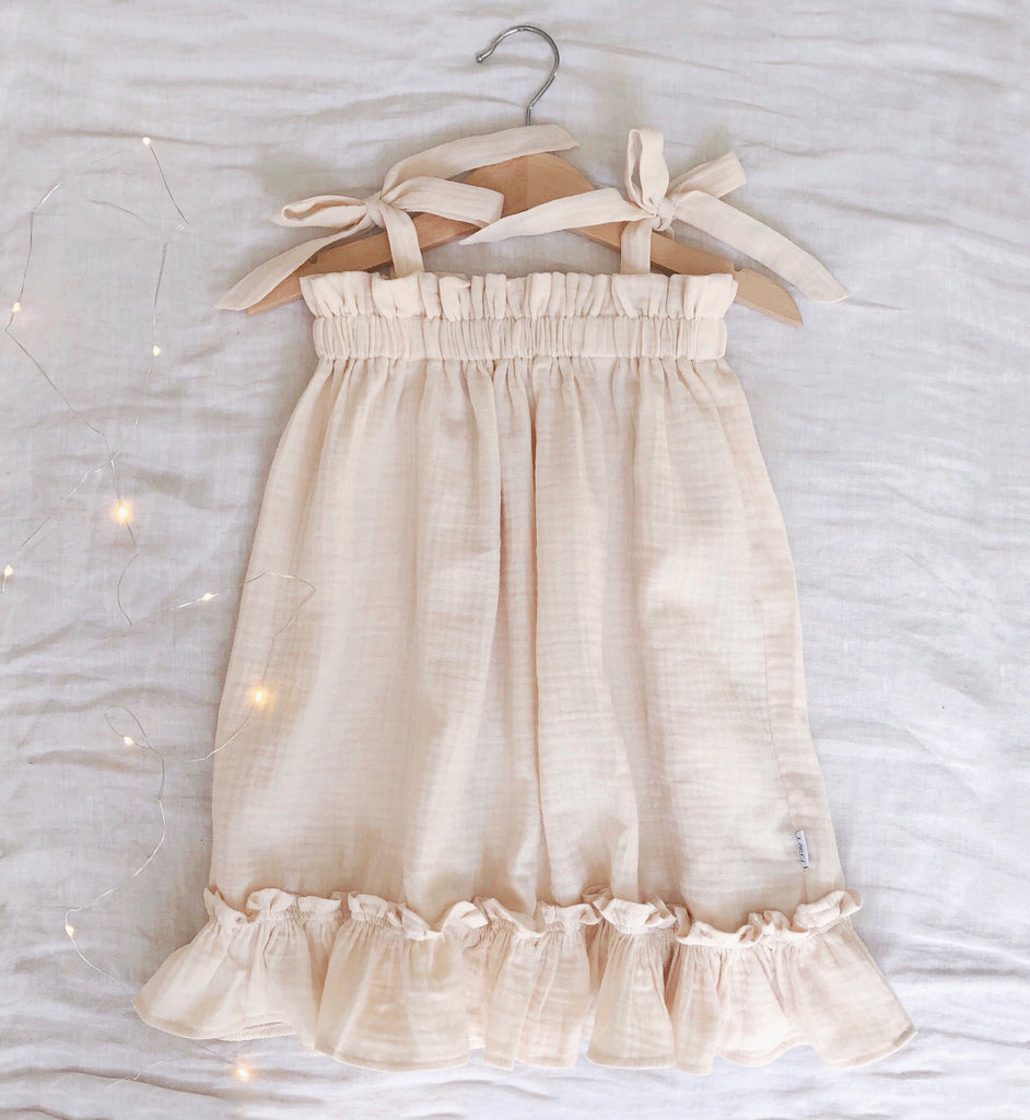Sun Dress- Cream Gauze