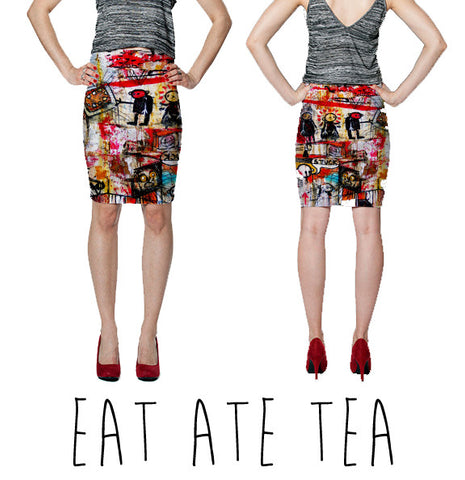 PENCIL SKIRT - EAT ATE TEA