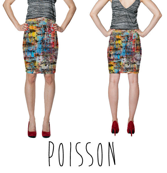 PENCIL SKIRT - POISSON
