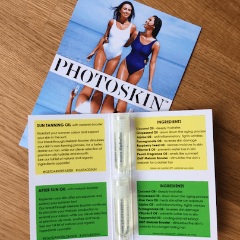 2ml Sample Pack : Sun Tanning Oil & After Sun Oil