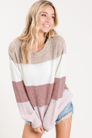 Mocha Colorblock Sweater