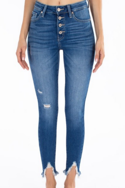 KanCan Distressed Ankle Jeans