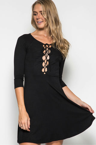 Late Night Lace-up Dress