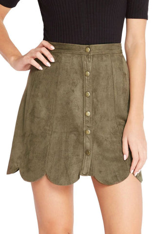 The Weekender Suede Skirt