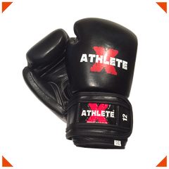 Athlete-X Boxing Gloves - Leather Black