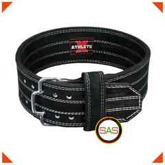 ATHLETE-X Gym Power Lifting Belt - Suede Leather