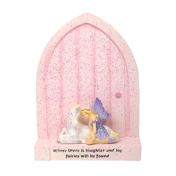Fairy Door with Fairy and Unicorn