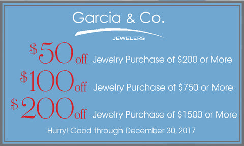 image of after-christmas discounts at Garcia & Co. Jewelers in Farmington, NM