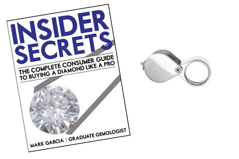 image of diamond buying guide and jeweler's loupe