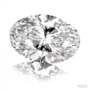 image of oval diamond with bowtie effect