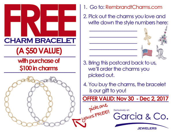 image of free charm bracelet promotion in Farmington, NM
