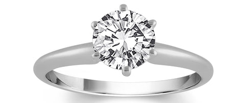 image of diamond solitaire ring in Farmington, NM